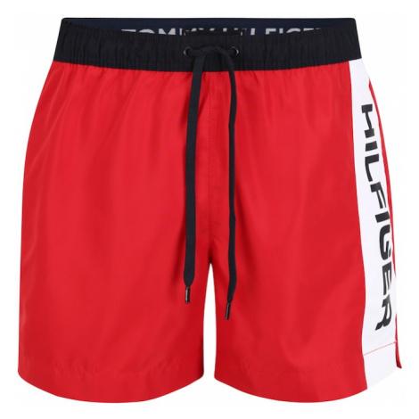 Tommy Hilfiger Underwear Plavecké šortky  krvavo červená / biela / čierna