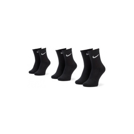 NIKE Súprava 3 párov vysokých detských ponožiek SX7664 010 Čierna