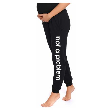 Tehotenské nohavice Nap ČIERNA
