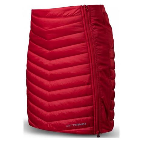 TRIMM RONDA červená - Dámska zateplená sukňa