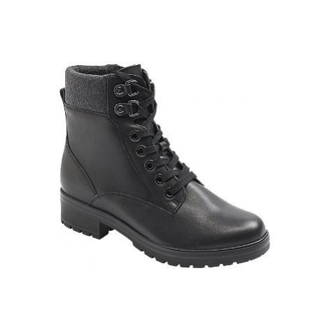 Čierna kožená komfortná šnurovacia obuv so zipsom Medicus
