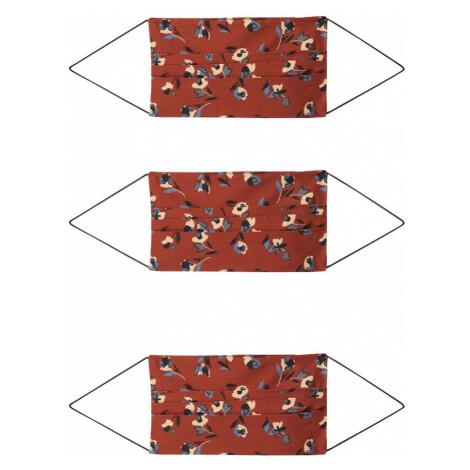 ONLY Látkové rúško '3er Pack ONLCOMMUNITY'  červená