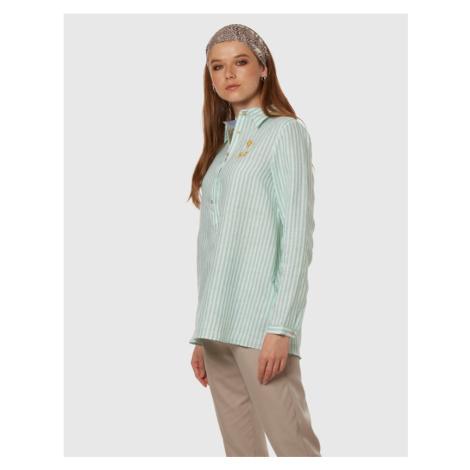 Košeľa La Martina Woman Striped Linen Shirt