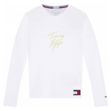 Tommy Hilfiger LS TEE GOLD - Dámske tričko s dlhým rukávom