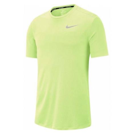 Nike DF BRTHE RUN TOP SS svetlo zelená - Pánske bežecké tričko