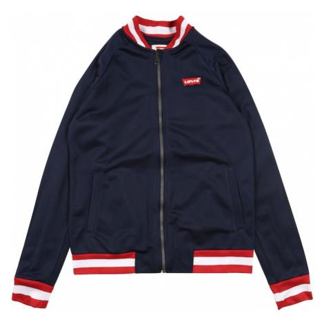 LEVI'S Tepláková bunda  červená / tmavomodrá / biela Levi´s