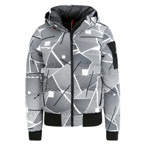 ICEPEAK Športová bunda 'Europa'  čierna / biela