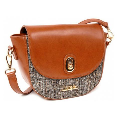 Hnedá lesklá kabelka – Glamour D . . A