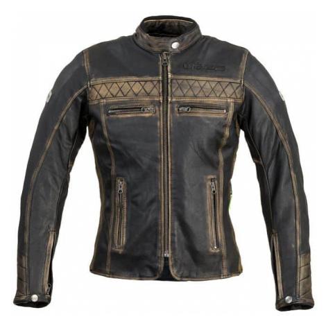Dámska kožená moto bunda W-TEC Kusniqua Farba vintage hnedá