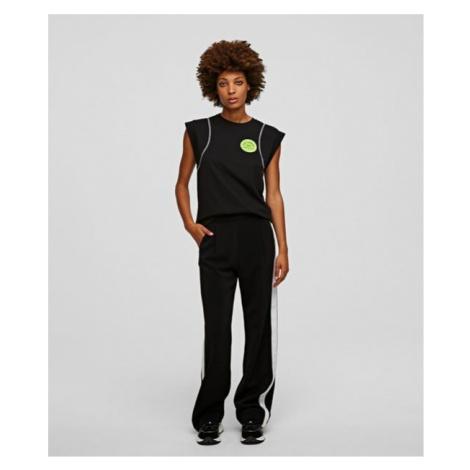 Nohavice Karl Lagerfeld Cady Pants W/ Logo Tape