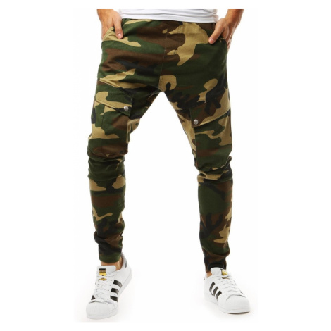 Green men's joggers UX1957 DStreet