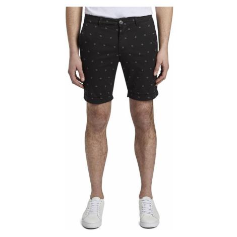 Tom Tailor Denim Black Men's Patterned Shorts