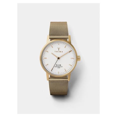 Dámske hodinky s kovovým remienkom v zlatej farbe TRIWA