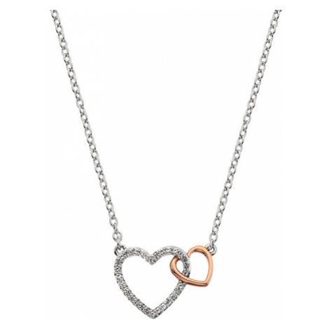 Hot Diamonds Strieborný náhrdelník s pravým diamantom Flora DP732
