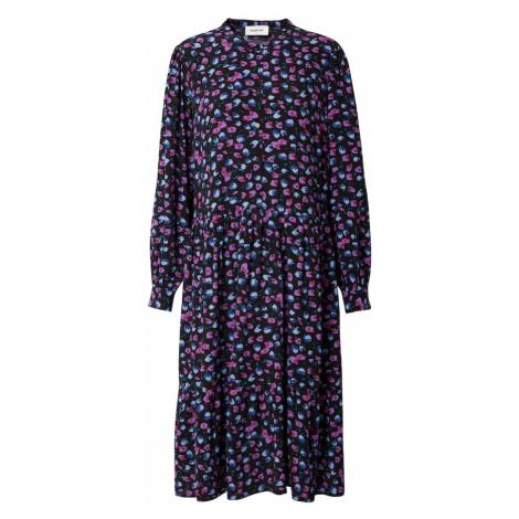 modström Košeľové šaty 'Genia'  tmavomodrá / fialová / ružová / dymovo modrá / námornícka modrá