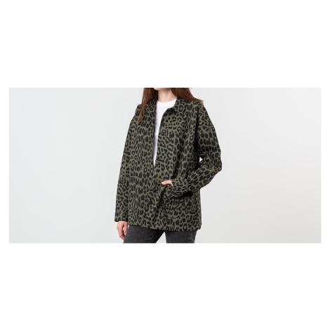 Lazy Oaf Leopard Chore Jacket Khaki