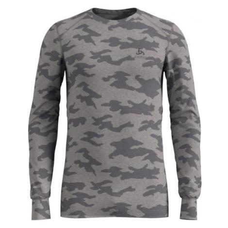 Odlo SUW MEN'S TOP L/S CREW NECK ACTIVE WARM XMAS sivá - Pánske tričko