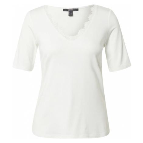 Esprit Collection Tričko  šedobiela