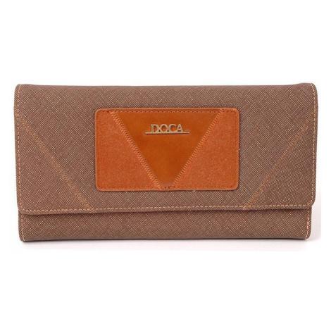 Dámska peňaženka Doca 64753 - hnedá
