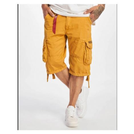 Pánské kraťase Alpha Industries Jet Shorts Yellow - Veľkosť:32