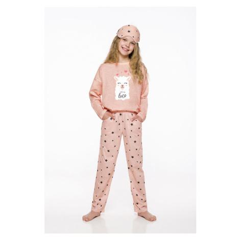 Dívčí pyžamo Taro 2129 Sofia Světle oranžová