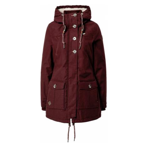 Ragwear Prechodný kabát 'Jane'  vínovo červená