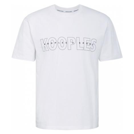 THE KOOPLES SPORT Tričko  biela / čierna