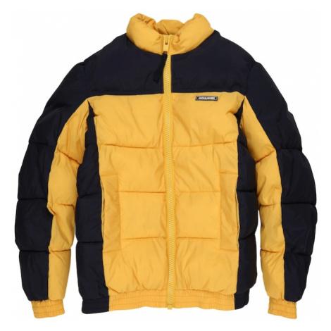 Jack & Jones Junior Zimná bunda 'Spector'  zlatá žltá / tmavomodrá