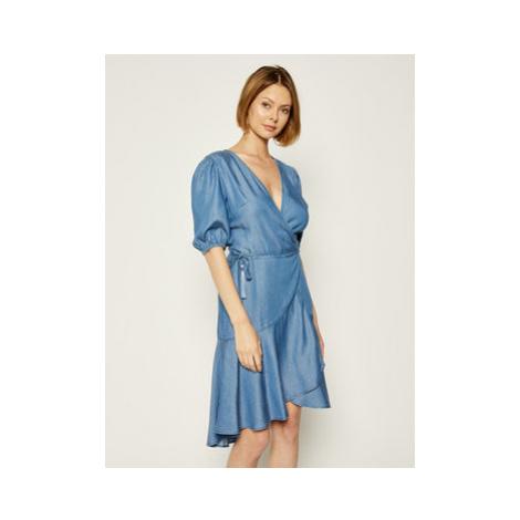 Guess Džínsové šaty Candy Strpipe Bandits W0GK2H D3ZW3 Modrá Skinny Fit