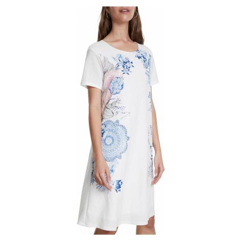 Desigual biele šaty Vest Charlotte