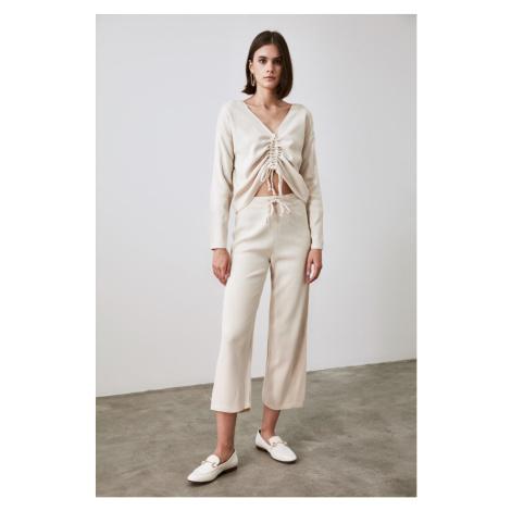Trendyol Stone Front Knitwear Bottom-Top Suit