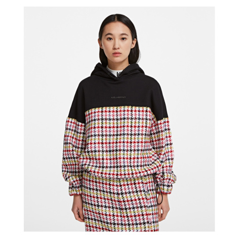 Mikina Karl Lagerfeld Boucle Jersey Mix Hoodie