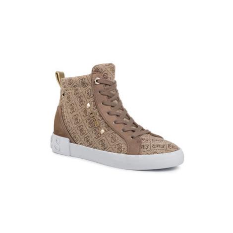 Guess Sneakersy Portly FL5PR2 FAL12 Béžová