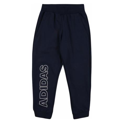 ADIDAS PERFORMANCE Športové nohavice  biela / námornícka modrá
