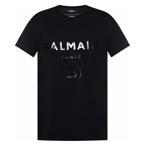 BALMAIN Paris Logo Black tričko