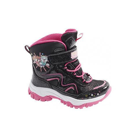 Čierna zimná obuv s TEX membránou Labková patrola