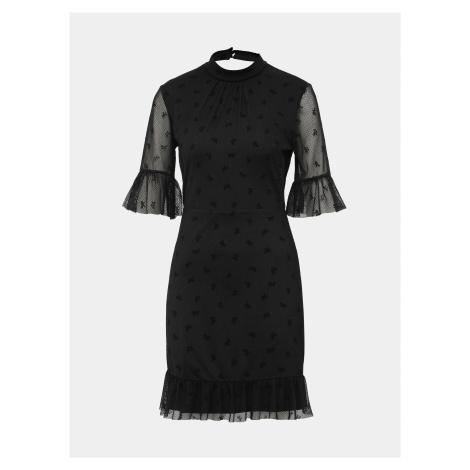 Čierne vzorované šaty Miss Selfridge