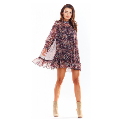 Awama Woman's Dress A319 Pattern 3 wzorzysty