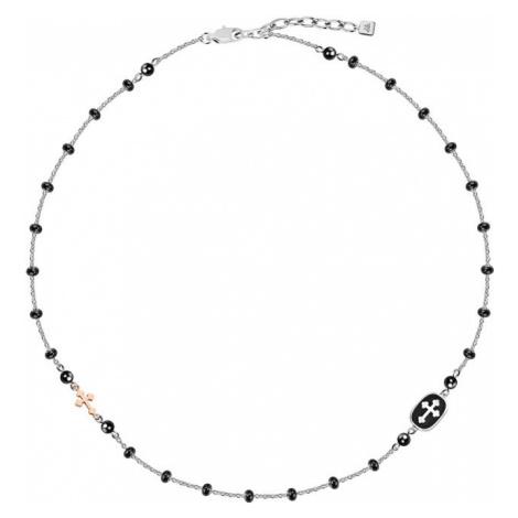 Morellato Pánsky oceľový náhrdelník s krížikom God SANF15