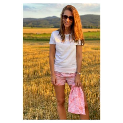 Calvin Klein pyžamo v látkovom vrecúšku - ružová
