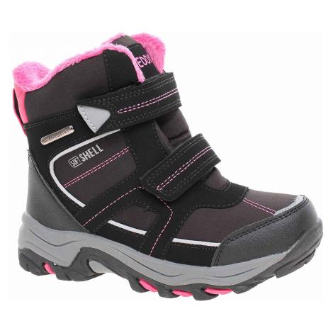 Dívčí sněhule Peddy P1-631-29-01 black-pink P1-631-29-01 Rejnok