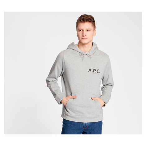 A.P.C. Stamp Hoodie Gris Chine