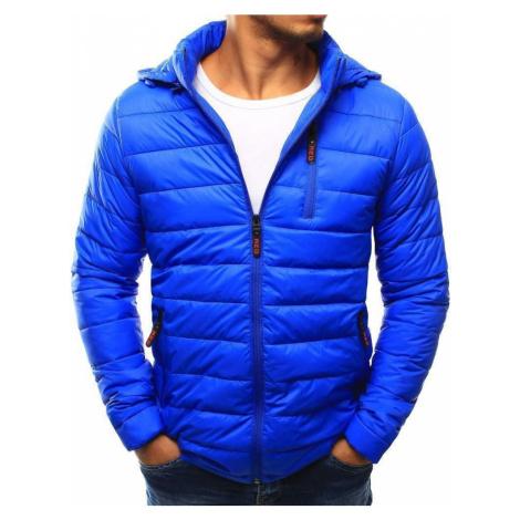 Moderná prešívaná pánska bunda svetlo modrá tx1813