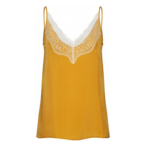 DRYKORN Top 'LETITIA'  žltá / biela