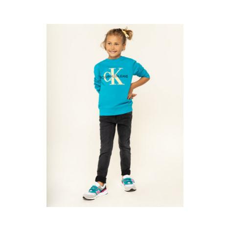 Calvin Klein Jeans Mikina IG0IG00178 Modrá Regular Fit