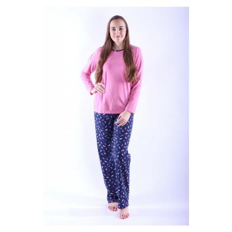 Dámske pyžamo Erika 1 ružové s pierkami Nelly