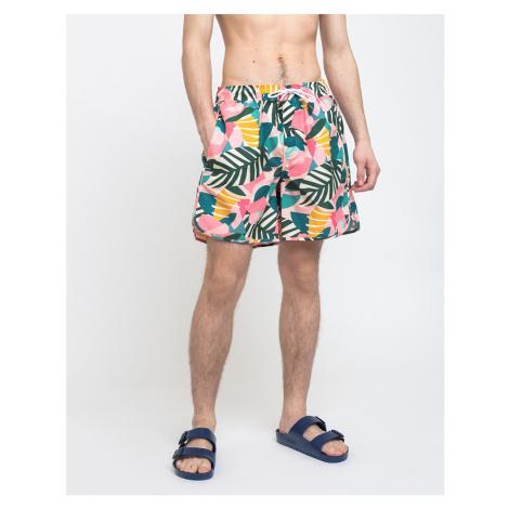 Dedicated Swim Shorts Sandhamn Collage Leaves Pink