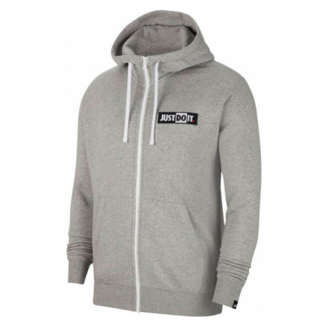 Nike NSW JDI HOODIE FZ FLC BSTR M šedá - Pánska mikina