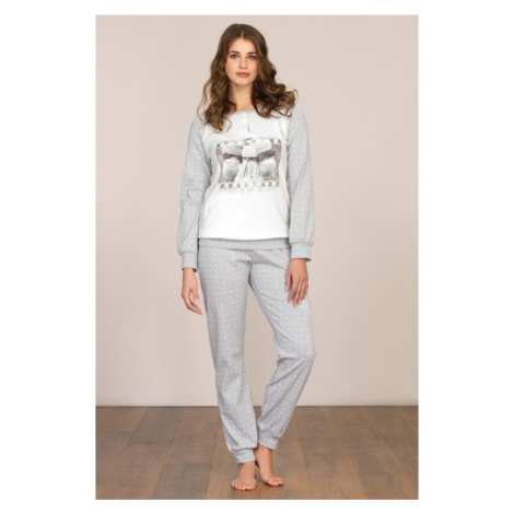 Dámske pyžamo Linclalor 92041 - barva:LCL33/biela / sivá