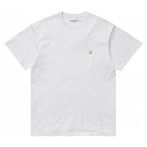 Carhartt WIP S/S Chase T-Shirt Ash Heather-XL šedé I026391_482_90-XL
